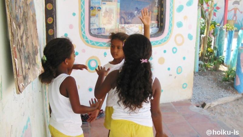 カノア保育園の子ども3人