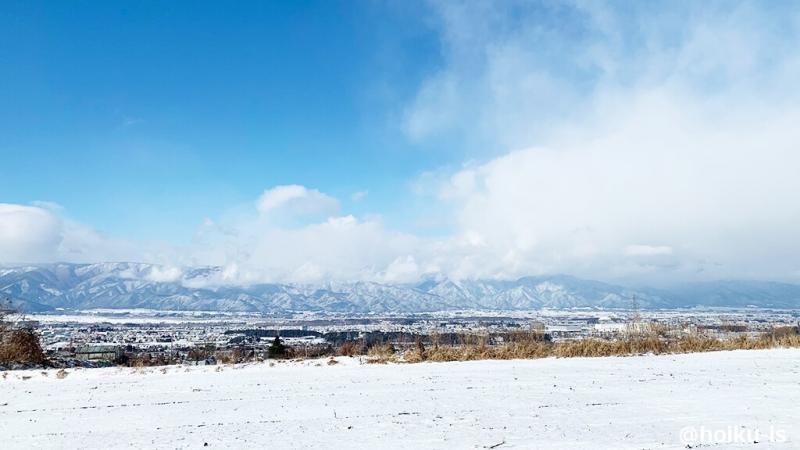 雪景色と空