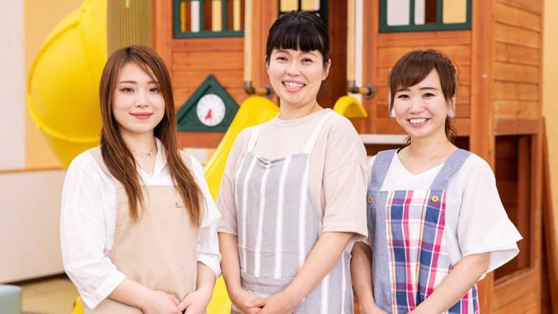 3人の女性保育士
