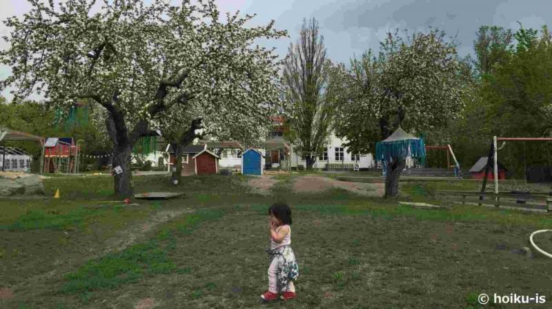スウェーデンの公園で遊ぶ子ども