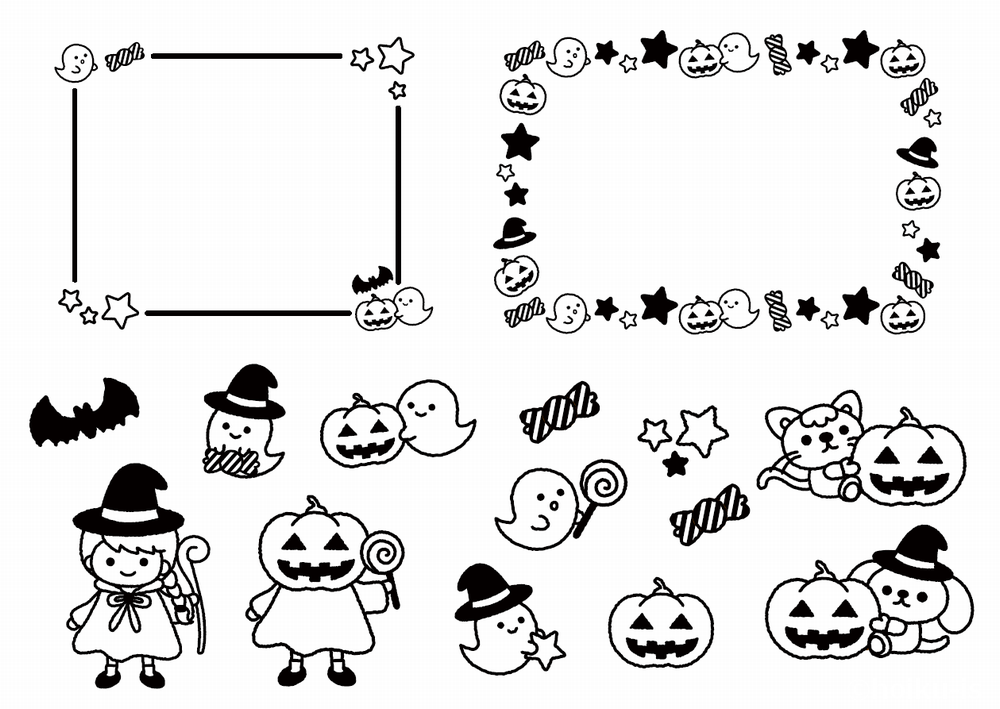 10月のフリーイラスト素材 おたより クラスだより 用 ダウンロードあり 保育士 幼稚園教諭のための情報メディア ほいくis ほいくいず